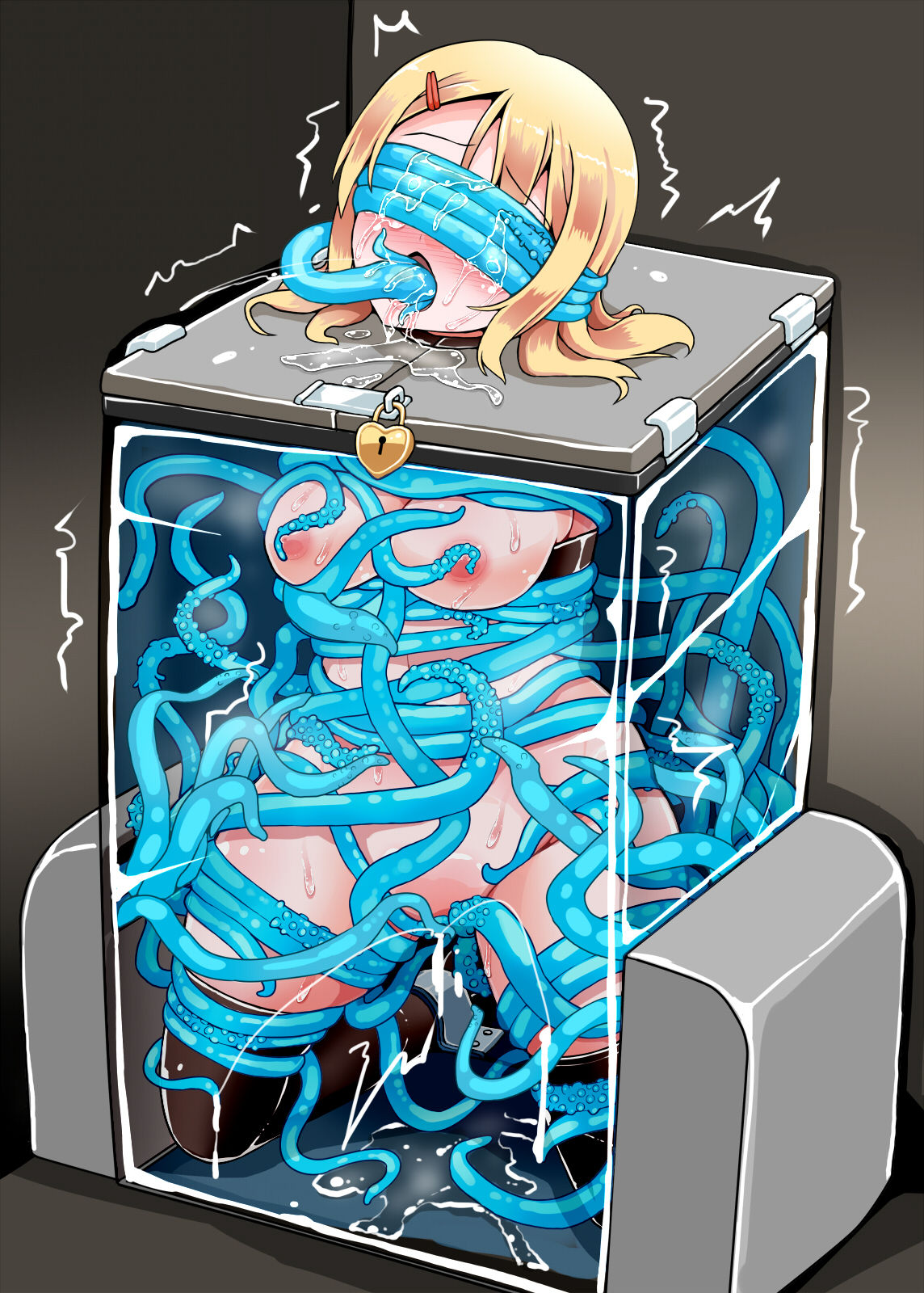 the porn way through tentacle all Shabby blue breaking the slave