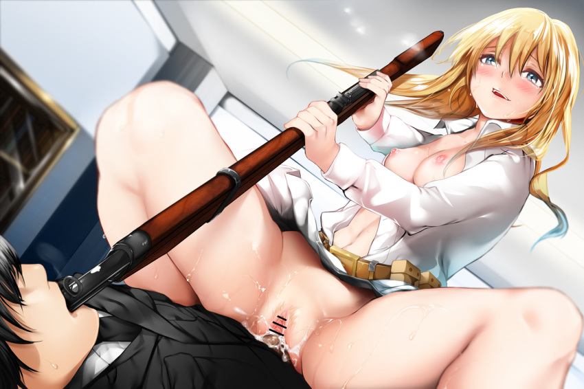 frontline ots-14 girls Erza from fairy tail naked